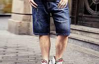 NMAX大码 休闲直筒牛仔短裤子