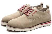 男士真皮休闲鞋反绒皮低帮男鞋英伦潮流伐木鞋子