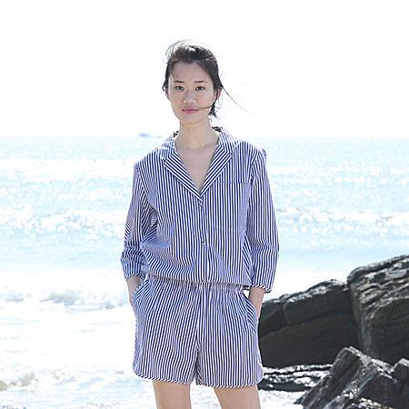 SYU HAN 慵懒帅气男孩风短裤牛仔连体裤
