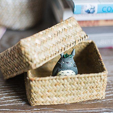 天然草编收纳盒