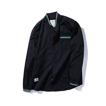 PANMAX 字母印花罗纹立领衬衫