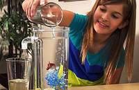 自洁小鱼缸迷你缸办公桌面创意塑料小型斗鱼缸