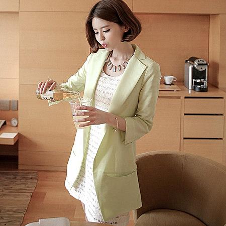 新款秋装韩版修身显瘦休闲女士小西服薄款短外套