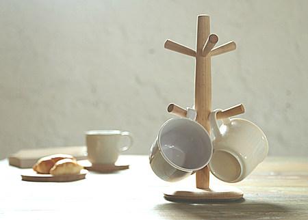 榉木杯架 厨房收纳架