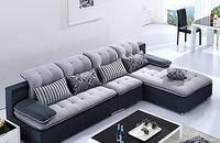 威喜莱布艺沙发可拆洗时尚现代客厅转角L型