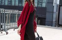 新款無袖女裝 流蘇毛衣 斗篷披肩針織外套