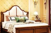 美式乡村实木储物床