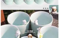小动物青釉陶瓷杯