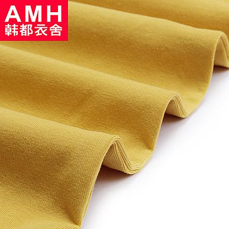 AMH男装 韩版2017夏装修身圆领图案印花短袖T恤