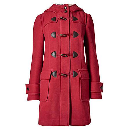红色牛角大衣