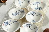 手绘茶杯套装茶杯茶具纯手绘单杯 高白青花杯子