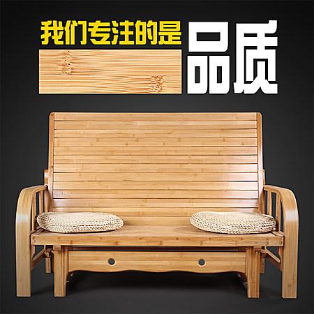 竹床 两用沙发床 可折叠