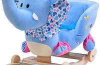 儿童早教玩具大象实木摇马