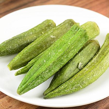 果然萌黄秋葵蔬果干新鲜即食水果脆片 秋葵干