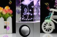 女生生日礼物创意惊喜浪漫水晶表白水晶音响