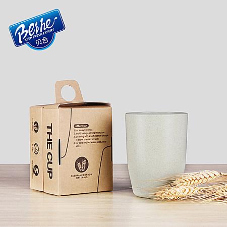 贝合 欧式环保小麦口杯400ml