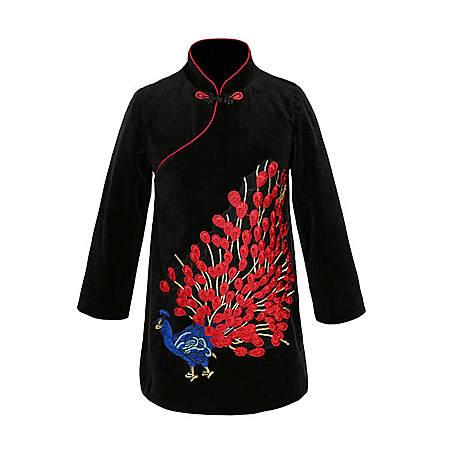 中国风女童旗袍连衣裙