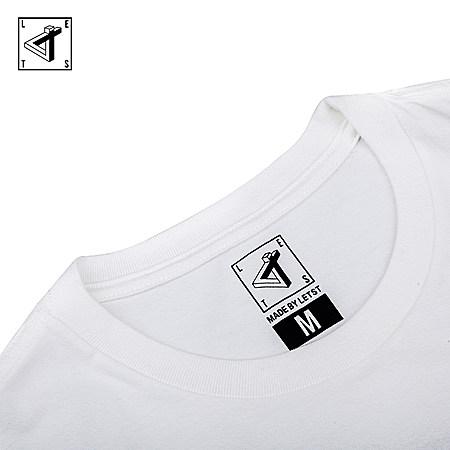 letstee夏季纯棉文艺动物牛头梗设计短袖T恤