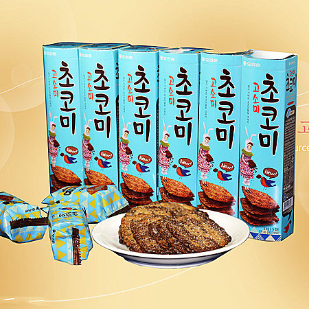 韩国进口好丽友高笑美饼干80g*6盒巧克力味