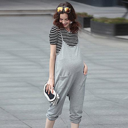 孕妇宽松休闲背带裤