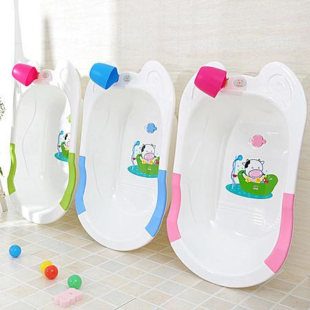 大号宝宝婴儿洗澡盆加厚儿童沐浴盆孩洗浴床