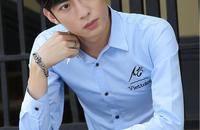 韩版潮男薄衬衫