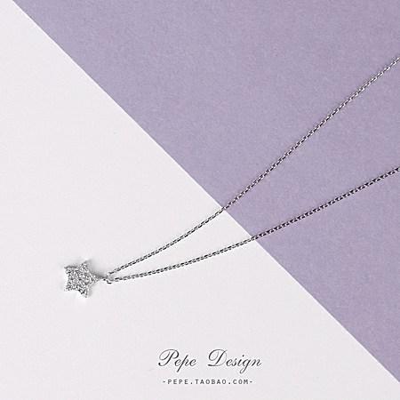 小星星锆石项链