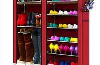 牛津布,无纺布 简易双排鞋柜