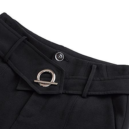 九分修身喇叭裤