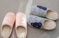 日式卡通保暖情侣棉拖鞋