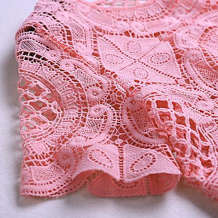 毛菇小象 蕾丝雪纺衫短裤两件套名媛小香风套装