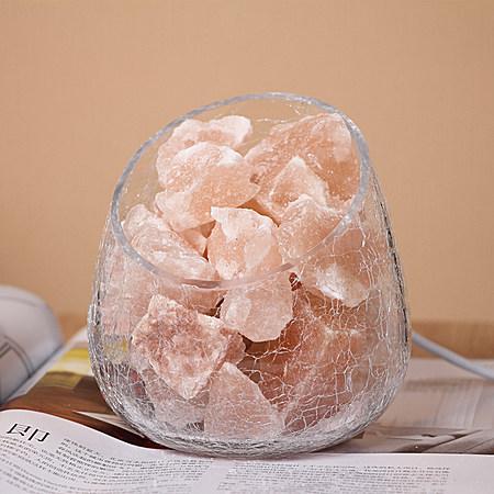 喜马拉雅冰裂纹天然水晶盐灯