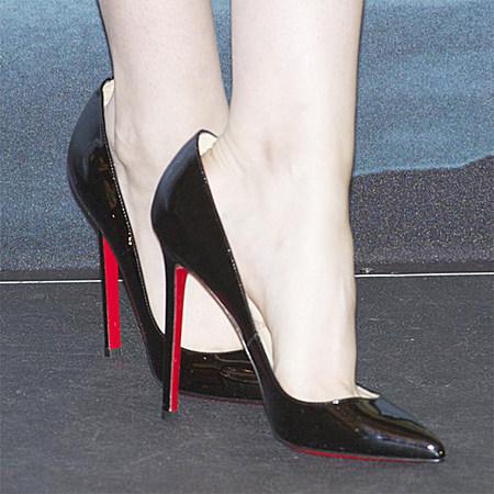 Bqueen女鞋婚鞋ol真皮浅口细跟高跟女单鞋