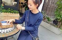 青橙0921镶钻长袖卫衣套装时尚秋装