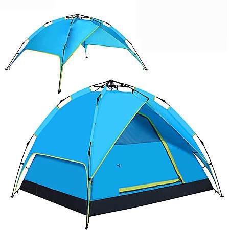 户外折叠大帐篷2-4人露营全自动双层防雨