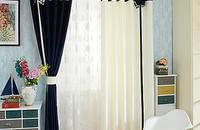 极简地中海窗帘窗纱