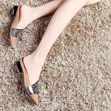 moolecole2017夏新款平跟水钻女凉拖鞋