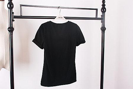 休闲风时尚大牌范夏装性感修身显瘦印花短袖T恤
